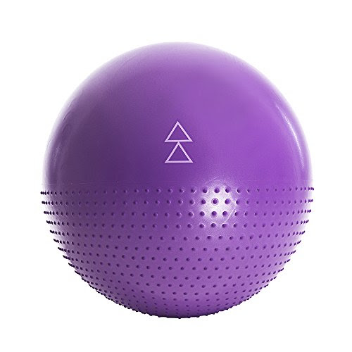 The Exercise Ball by Yoga Design Lab. Studio quality, dual-sided, non-slip stability pattern with anti-burst technology. Designed to help you love all your barre, pilates, yoga and other fitness ball exercises. 65cm (Move)