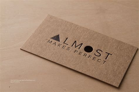 RockDesign.com   High End Business Cards   Brown Kraft