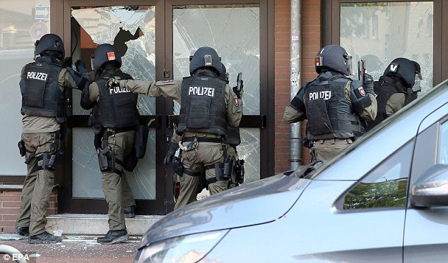 Radical: The raid came as part of a crackdown on the radical German-speaking Muslim group, which was branded a 'hot spot of radical Muslims'