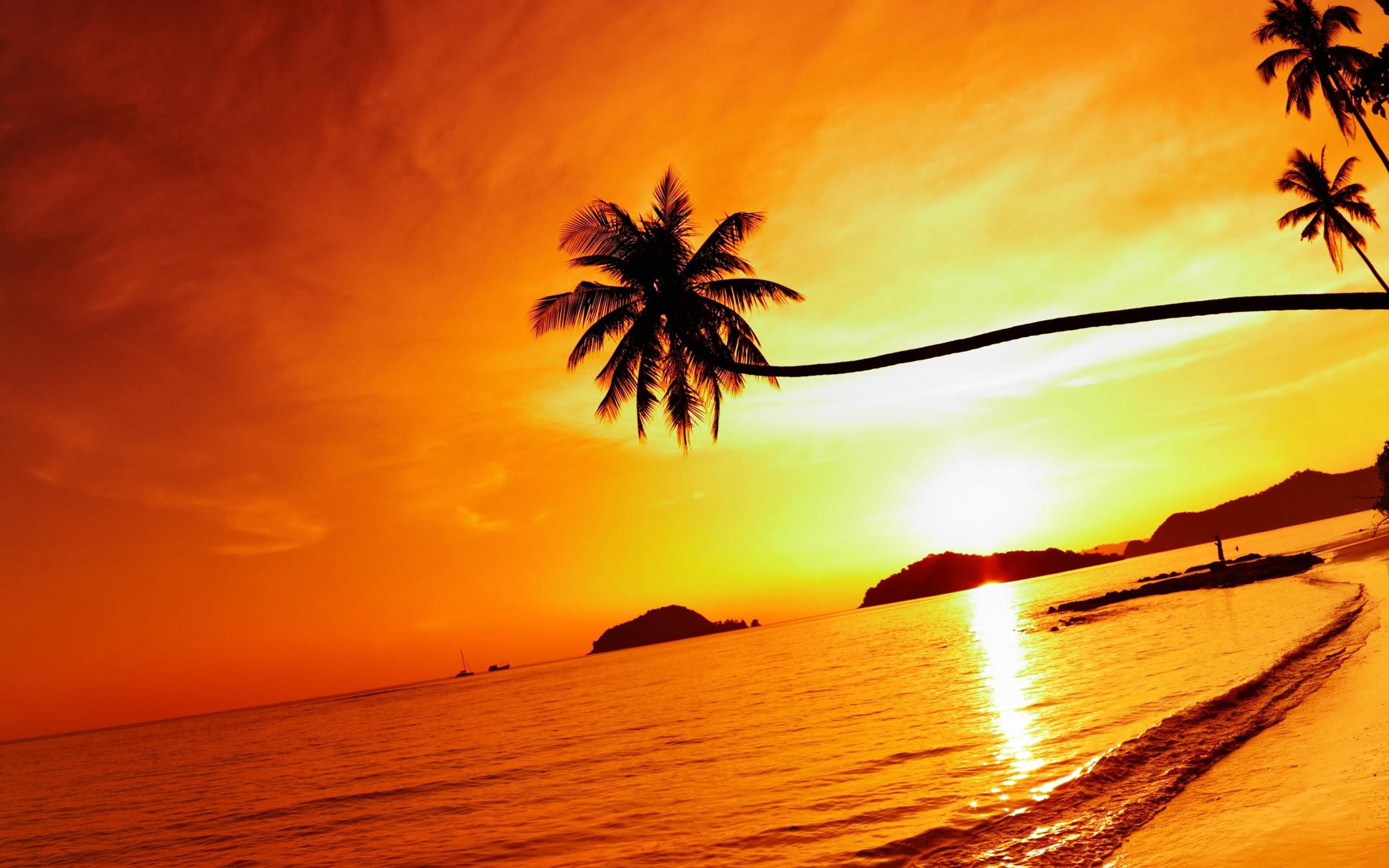 Hd Island Sunset 4k Cover