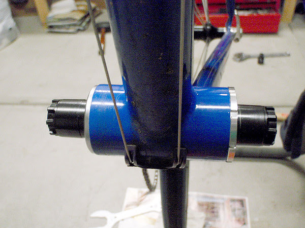 newly installed bottom bracket