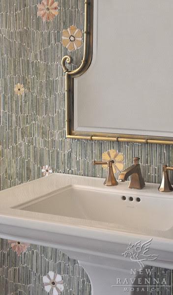 Backsplash Bathroom Mosaic by New Ravenna Mosaics - bathroom tile ...