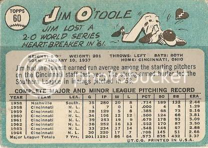 #60 Jim O'Toole (back)