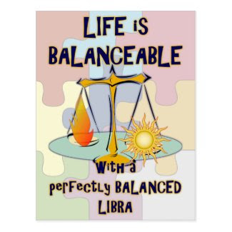 Perfectly Balanced Libra Postcard