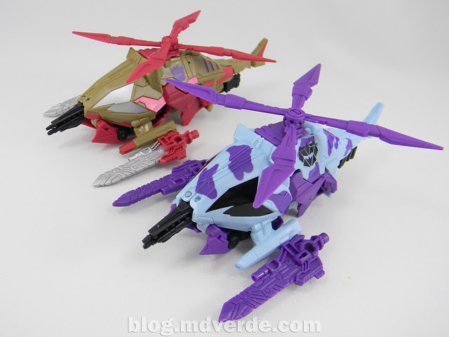 Transformers Vortex Deluxe - G2 Fall of Cybertron - modo alterno vs SDCC
