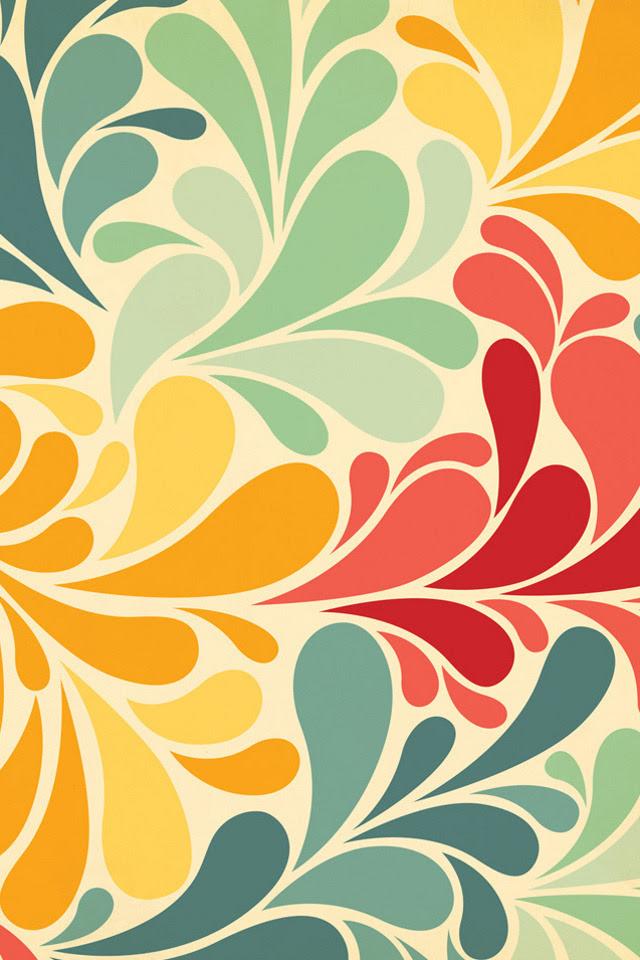 UltraWalls  iPhone Retina Wallpapers — Vintage Flower Pattern