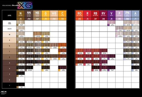paul mitchell  color xg color chart paul mitchell hair products paul mitchell color chart