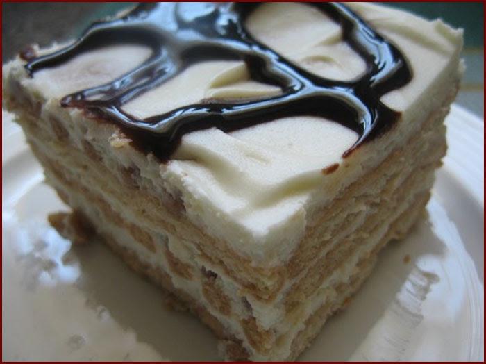 Торт с творожным кремом (без выпекания)