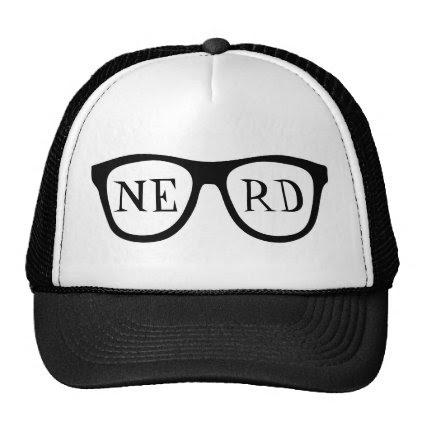 Nerd Glasses Black Horn Rimmed Smart Trucker's Hat