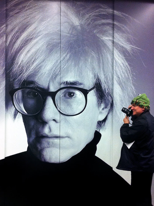 me and Andy Warhol, Anchorage Museum, Anchorage, Alaska