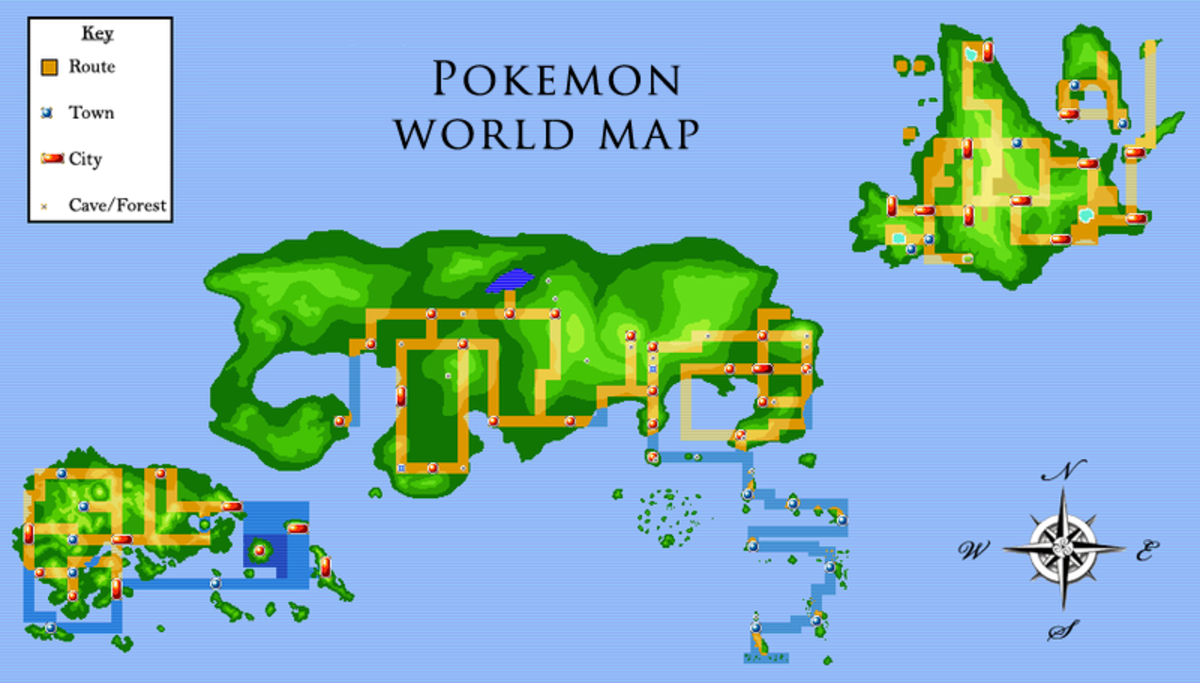 Pokemon World Map by DrBIG47 on DeviantArt