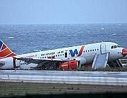 Il velivolo di Wind Jet finito fuori pista a Punta Raisi il 24 settembre