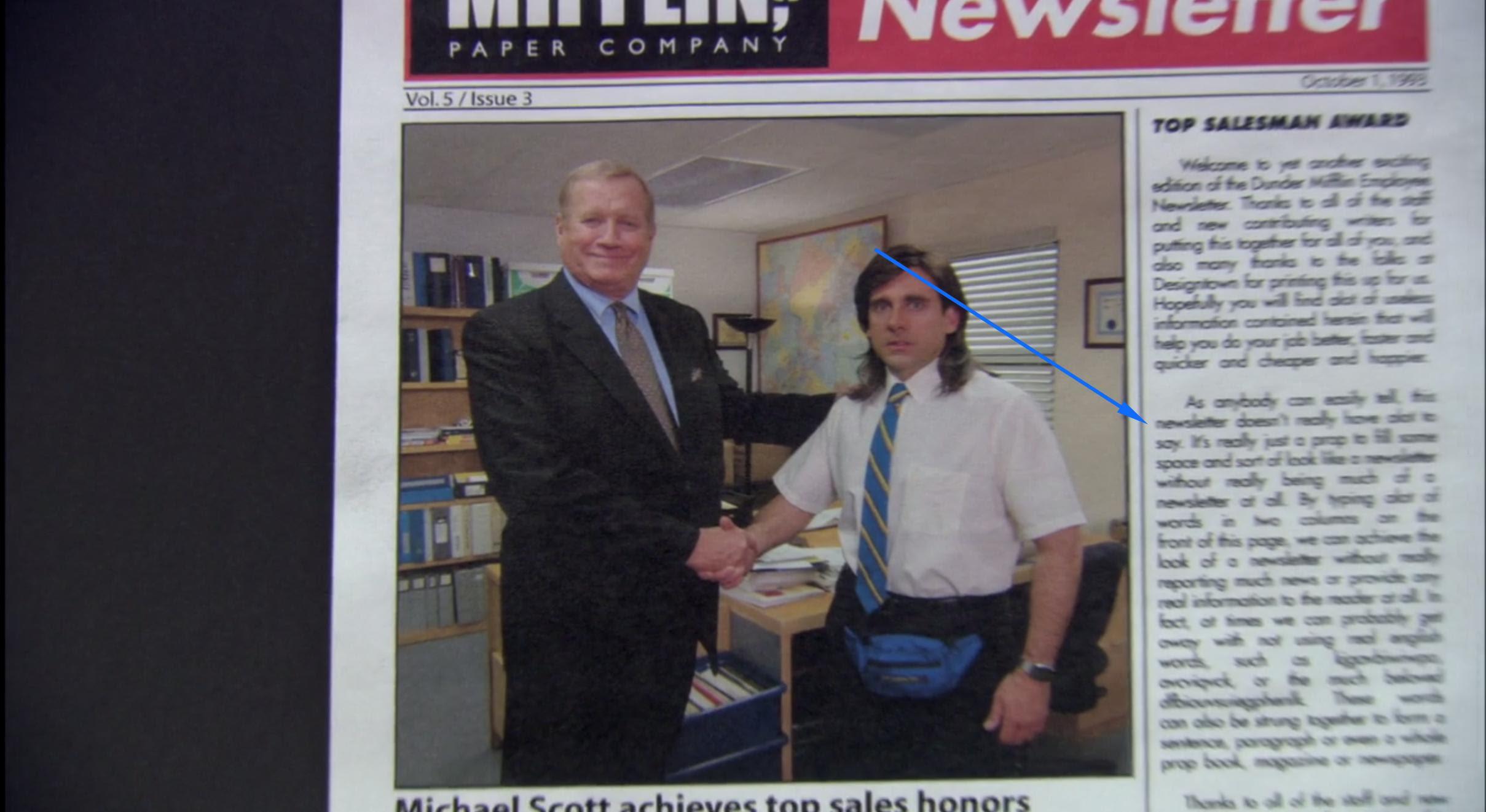 Image result for dunder mifflin newsletter
