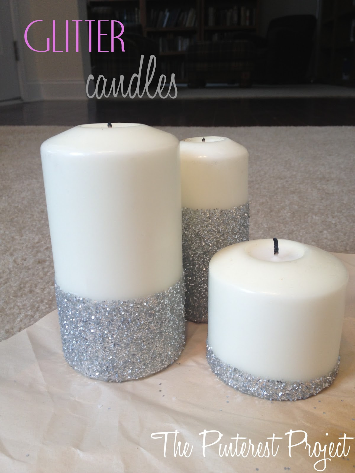 Glitter Candles | The Pinterest Project