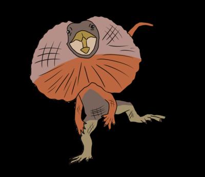 エリマキトカゲ懐かしの昭和の珍獣ガニ股走行は世界一速い 魔王の
