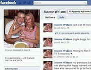 Uno scorcio del profilo Facebook di Joanne