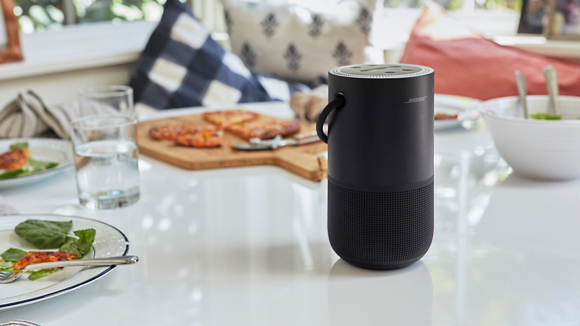 The Bose Portable Home speaker sports sleek looks and 360-degree sound