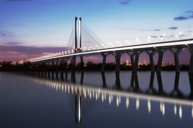 Le nouveau pont qui enjambera le Saint-Laurent conservera... (Photo fournie par Infrastructure Canada)