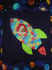detail of rocket quilt