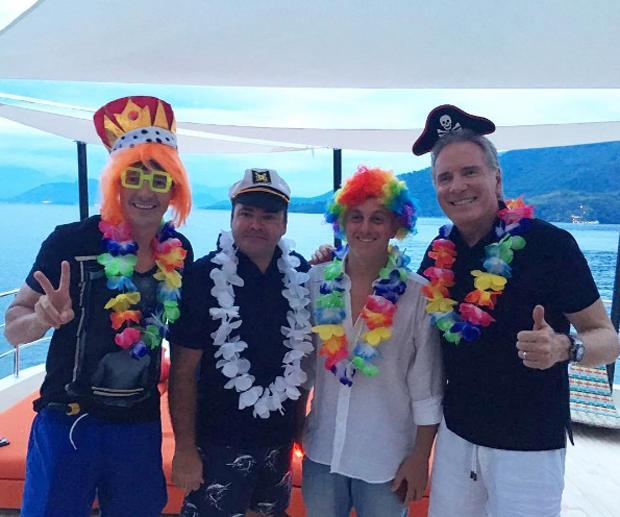 Carnaval da família Faro, Huck e Justus (Foto: Reprodução/Instagram)