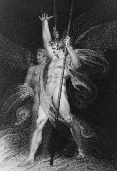 Satan and Beelzebub, as illustrated in Milton's 'Paradise Lost'.
