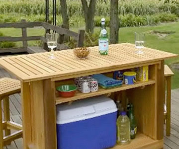 How to build a outdoor bar free plans