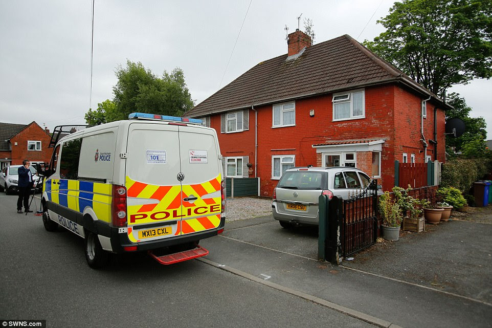 Police were seen outside a house in South Manchester this morning, in connection with three new arrests over the attack