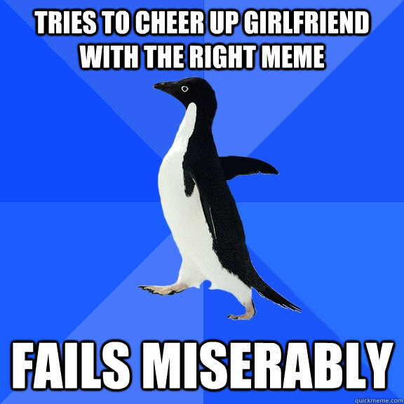 Tries To Cheer Up Girlfriend With The Right Meme Fails Miserably