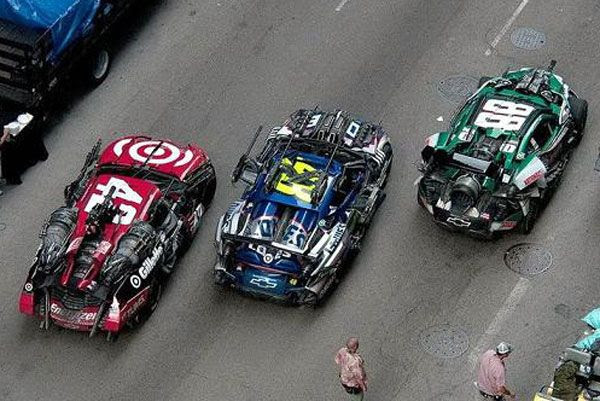 These NASCAR vehicles will be 'Wreckers' in TRANSFORMERS 3.