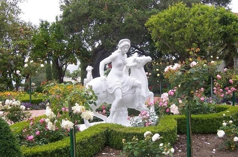 Hearst Castle Garden Statue