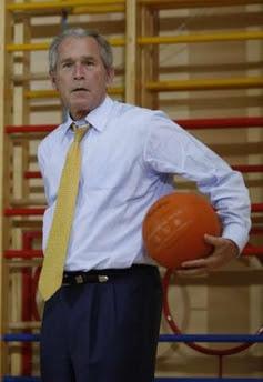 Bush & the basketball game of doom, 6.16.08   6