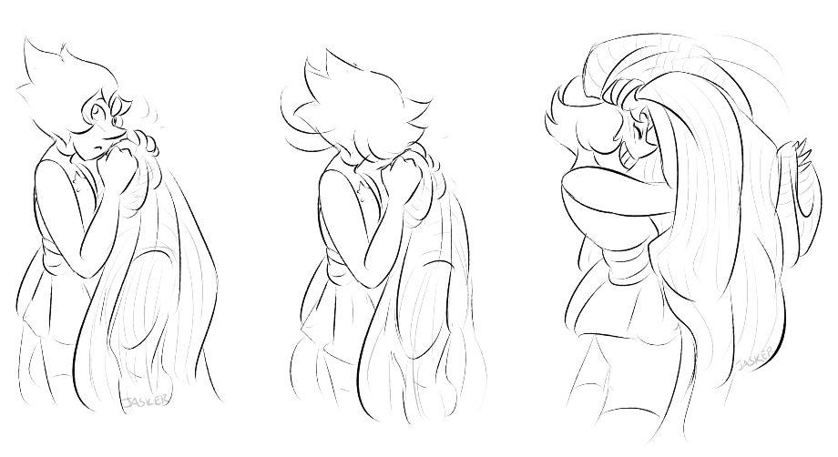 pearl tries to secretively snuggle into jaspers sweater after shes been wearing it BUT SHE GOT CAAAUGHT (pearl ur not as discreet as u think lol)