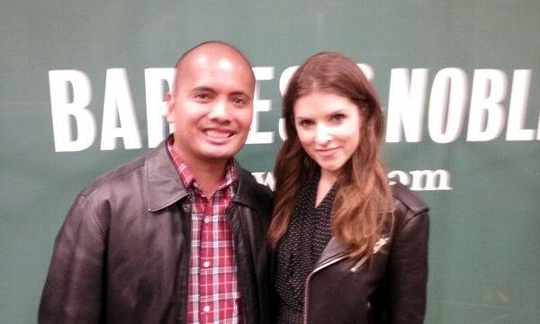 A photo I took with Anna Kendrick inside the Barnes & Noble bookstore at The Grove in Los Angeles...on November 21, 2016.
