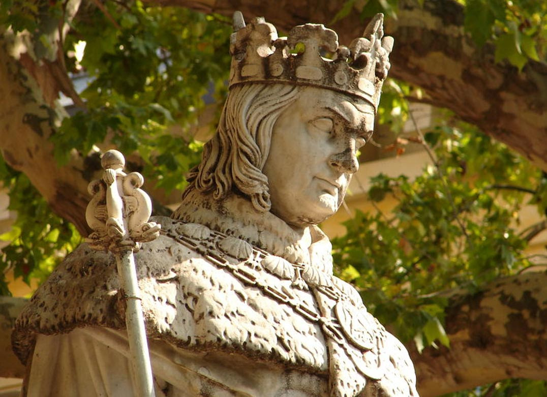 Statue of King Rene House of Valois-Anjou.