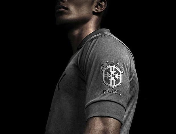 Nova camisa brasil preta (Foto: Divulgação)
