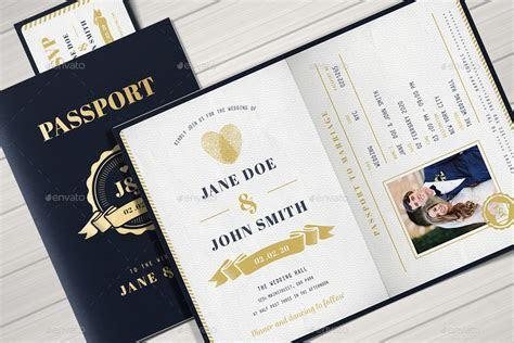 Passport Wedding Invitation by Vector Vactory   GraphicRiver