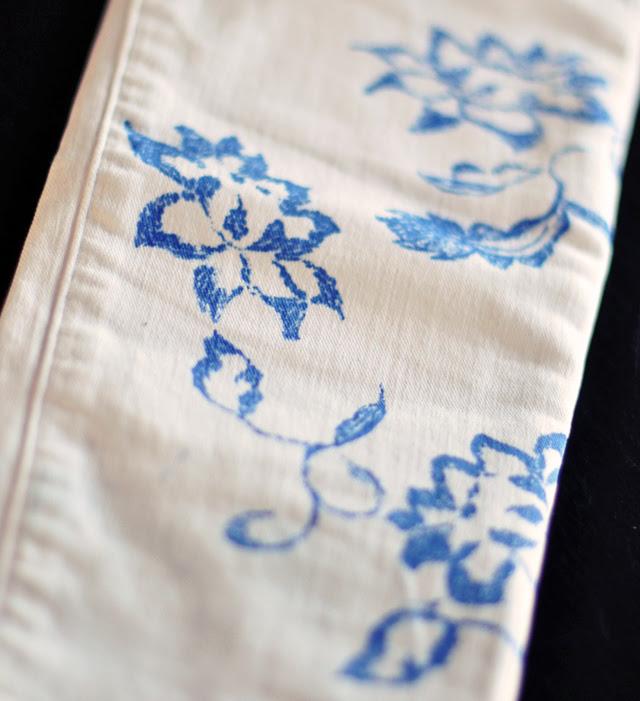 DIY floral jeans-6-1