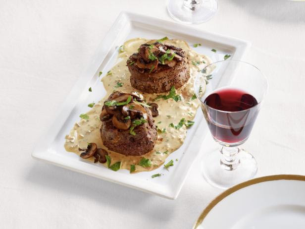 Learn how to cook the best filet mignon perfectly like a steakhouse, pan seared in a cast iron skillet & finished tips for the best filet mignon. Filet Mignon with Mustard and Mushrooms Recipe   Ina ...