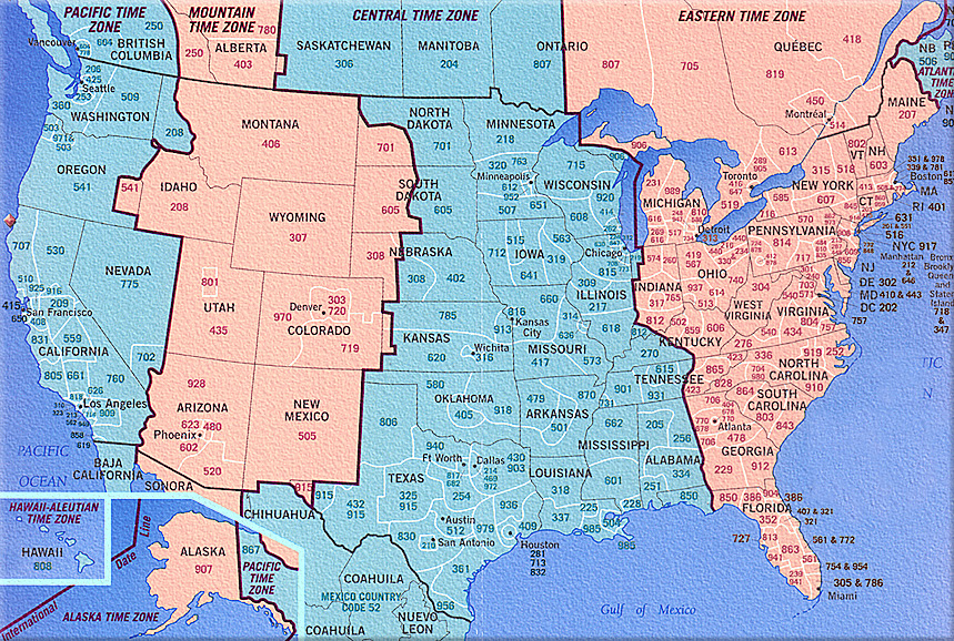 Us Canada Time Zones Map