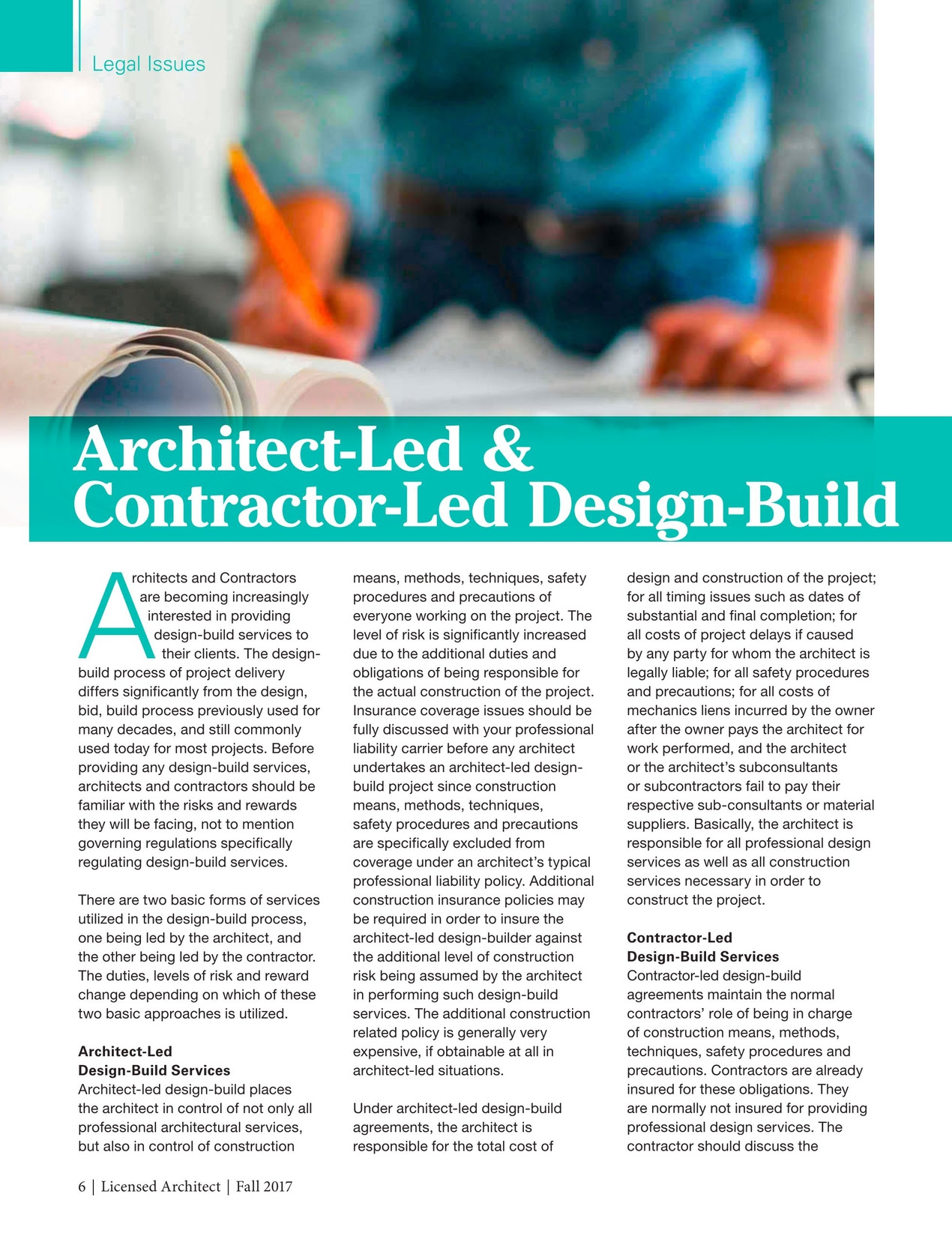 Licensed Architect Fall 2017