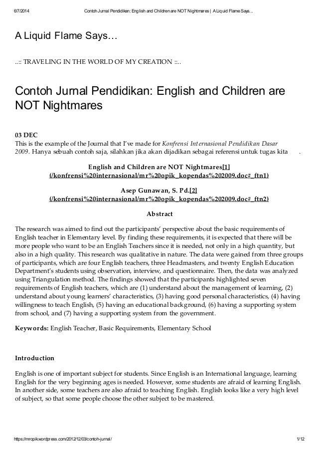 Contoh Jurnal Skripsi Pdf Contoh Soal Dan Materi Pelajaran 8