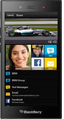 BlackBerry Z3 smart phone available for pre-order for Rs.15990.00 in India