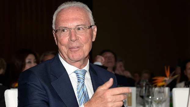Franz Beckenbauer, em evento do Bayern de Munique