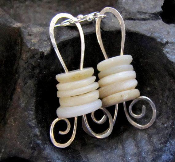 MOP buttons earrings