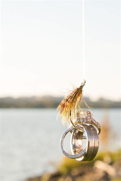 Fly fishing hook, wedding ring shot   Wedding Photos