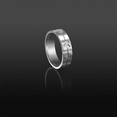 Custom Soundwave Ring Sterling Silver   Soundwave