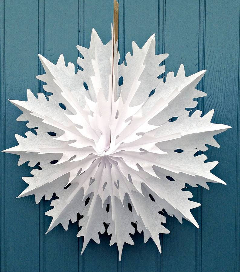 snowflake paper decoration spike design by petra boase ...