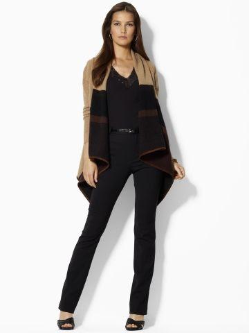 Lauren Ralph Lauren Minette Wool Draped Cardigan