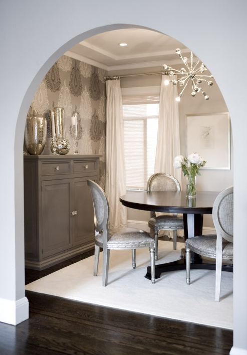 Gray Walls - Contemporary - dining room - Benjamin Moore Himalayan ...