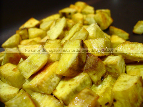 Batata-doce assada com mel